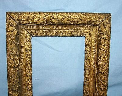 Ornate Antique Wood Picture Art Mirror Layered Frame Gold Gilt #3