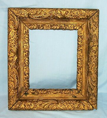 Ornate Antique Wood Picture Art Mirror Layered Frame Gold Gilt #5
