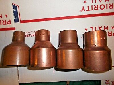 "2"" copper sweat fitting - reducer reducing coupling LOT"