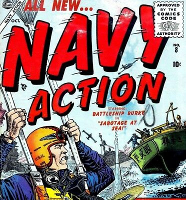 NAVY ACTION & NAVY COMBAT & More - US Army War Action Comics on DVD