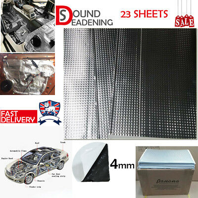 Silent 4mm 23 Sheets Car Van Sound Deadening Vibration Proofing Damping Mat Coat
