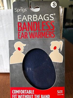 Sprigs Earbags Bandless Ear Warmers / Earmuffs with Thinsulate, Navy Blue, Small