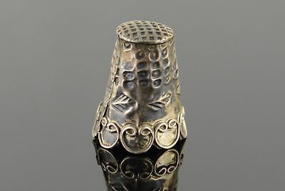 925 Sterling Silver Ornate Thimble