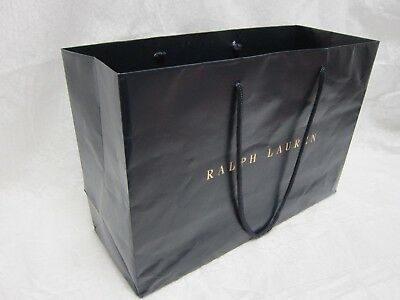 RALPH LAUREN EMPTY CHRISTMAS GIFT PAPER BAG 16 x 6 x 10-3/4 INCHES WITH HANDLES