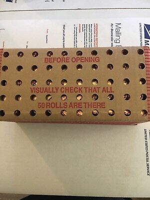 2009 1C Lincoln-LP1 Log Cabin Lincoln Cent  Sealed Case Of Fifty Rolls