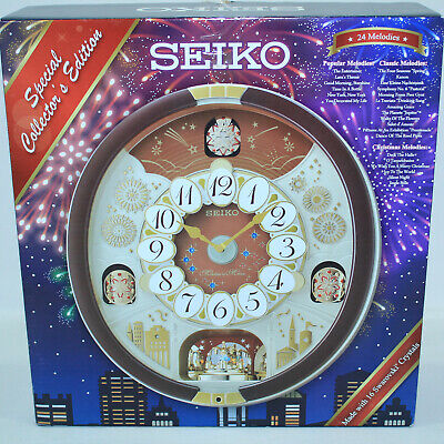 BRAND NEW SEIKO SPECIAL EDITION MELODIES IN MOTION CLOCK QXM574BRh 24 MELODIES