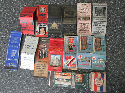 Lot of Vintage WWII 1940's Era Michigan Matchbook Covers Advertising Hotels