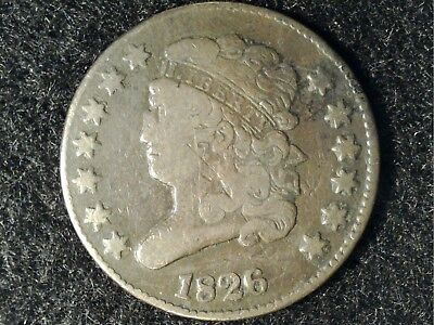 1826 US Half Cent in Low Grade - Uniform Brown Appearance and No Big Issues