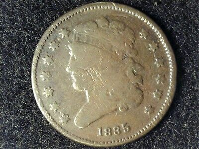 1835 US Half Cent in Low Grade - OK Brown Appearance