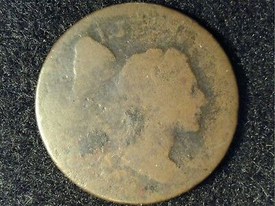 1795 or 1796 Lib Cap Large Cent in Low Grade - Very Worn (Almost Blank Rev)
