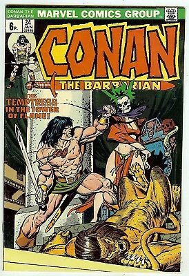 Conan the Barbarian #34 (Marvel 1974, vf 8.0) Roy Thomas & John Buscema