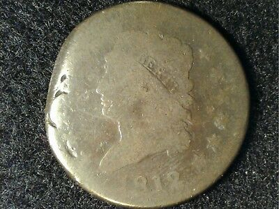 1812 Classic Head Large Cent in Low Grade - Damaged