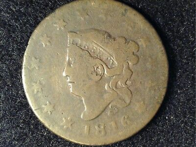 1816 Coronet Large Cent in Low Grade - OK Brown Appearance