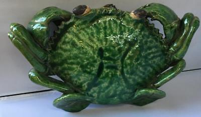 RARE ANTIQUE/VINTAGE LARGE CERAMIC MARKED CRAB LIKE WALL POCKET CA.1930's