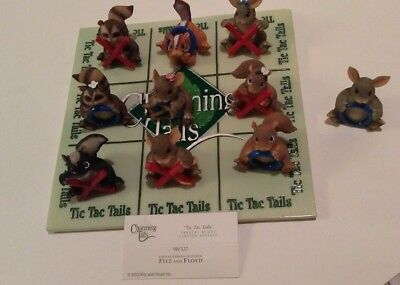 """Charming Tails """"TIC TAC TAILS""""  Signed BY DEAN GRIFF plus LAPEL PIN"""