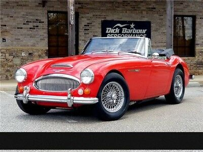 3000 Mark III Convertible 1967 Austin Healey 3000 Mark III Convertible 23,394 Miles Red Restored