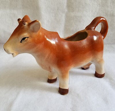 Vintage Cow Creamer Handpainted in Japan - Mint Condition