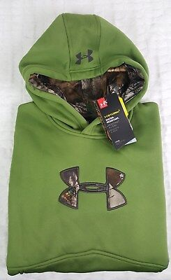 Nwt New Under Armour Boy Youth Storm  Caliber Icon Hoodie Sweatshirt Sz Ylg L
