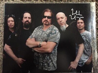 MIKE MANGINI DREAM THEATER DRUMMER SIGNED AUTOGRAPH 8x10 PHOTO C VINYL RECORD