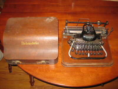 Blickensderfer 7 Typewriter with Wooden Cover Case from 1890s