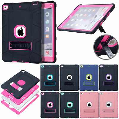 For Apple iPad 9.7 2018 6th Gen Hybrid Rubber Shockproof Rugged Stand Case Cover
