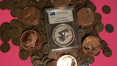 """2014 pcgs ms70 silver wedge tailed eagle plus """"FREEBIES"""""""