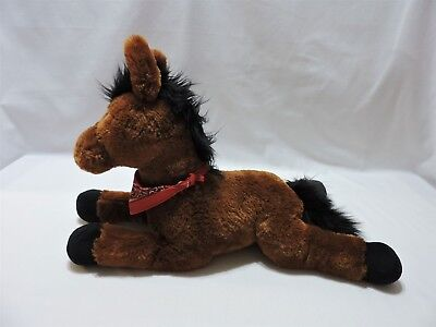 "Gund Horse Plush Stuffed Animal Alley Toy Brown Black Soft 16"" Cute"