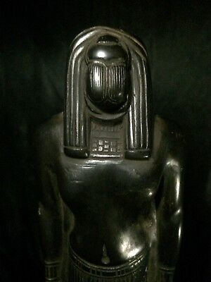 ANCIENT EGYPTIAN ANTIQUITIES Egypt STATUE SCARAB Khepri God Carved STONE 2060 Bc