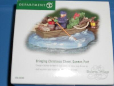 DEPT 56 DICKENS' VILLAGE Accessory BRINGING CHRISTMAS CHEER, QUEENS PORT NIB