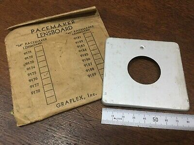 GRAFLEX PACEMAKER 80x84mm Vintage Antique LENSBOARD 34mm hole USA -New Old Stock
