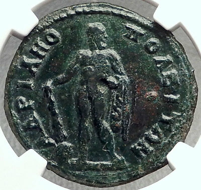 CARACALLA 198AD Hadrianopolis Authentic Ancient Roman Coin w HERCULES NGC i68762
