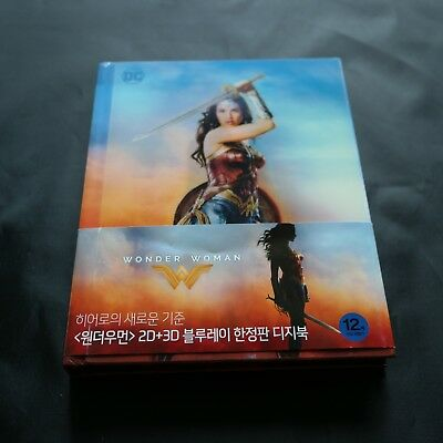 Wonder Woman (2017, Blu-ray) Digibook Edition / used