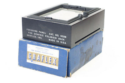 Graflex Cat. #9288 Focusing Panel Ground Glass Back for 4x5 Speed Crown Boxed!