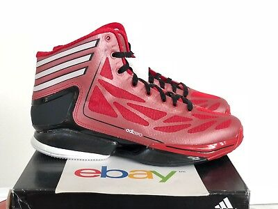 7da6e045ffdc2 New Adidas Crazy Light 2 J SCARLET RED Size 5 youth black rose mvp 3 adizero