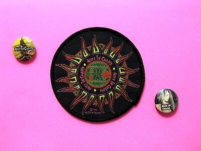 Alice In Chains Official 1993 Vintage Patch + Two Vintage Buttons Uk Made Sew-On