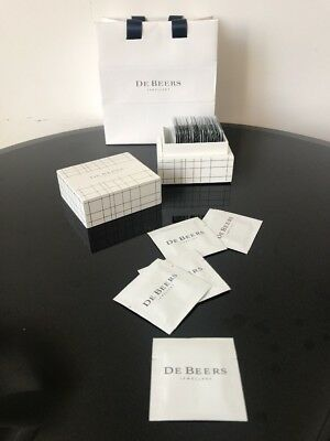 De Beers Jewellery Diamond Brilliance Polishing Cleaning Cloth 50 x Packets