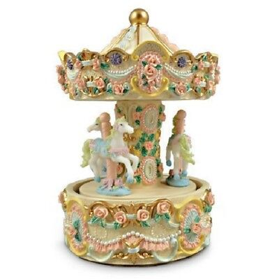 Musical Carousel with 3 Horses Blue