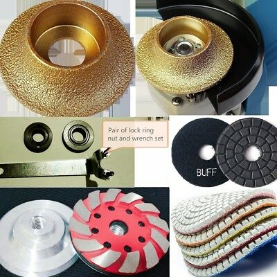 """3/16"""" Roundover Bullnose router bit 20 polishing pad grinding cup stone concrete"""