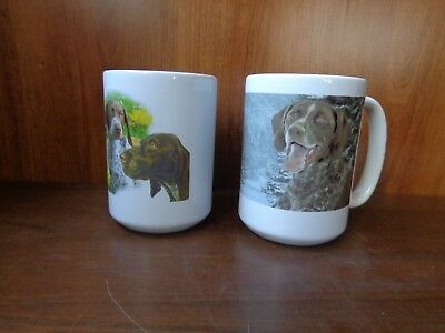 2 ceramic German Shorthaired Pointer Dog Breed cups mugs 16 oz Orca Coatings