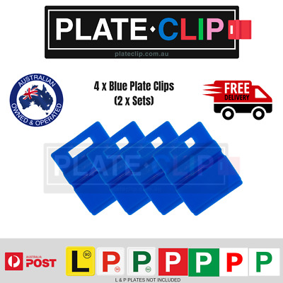 4 x Blue L & P Plate Holders for Number Plates | FREE Postage!