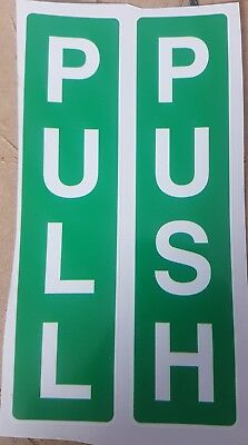 Push & Pull Signs Access Awareness Door Self-adhesive Stickers