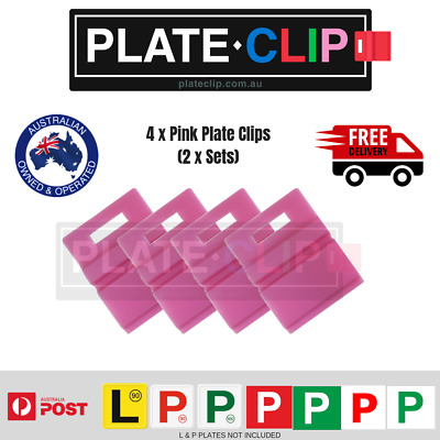 4 x Pink L & P Plate Holders for Number Plates | FREE Postage!
