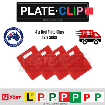 4 x Red L & P Plate Holders for Number Plates | FREE Postage!