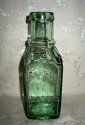 Extremely Rare Antique Pickle Bottle 1800's, Rowat & Co. Glasgow RegD No 13/2762