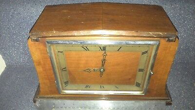 old  ELECTRIC WESTMINSTER CHIME MANTEL CLOCK