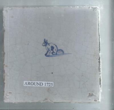 Antique Delft Tile Around 1725