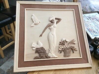 All Wood 3D Carved Picture