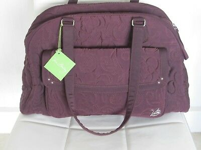 Estate Nwt Vera Bradley Bowler Baby Bag Wine Diaper Travel Gym Carry Microfiber