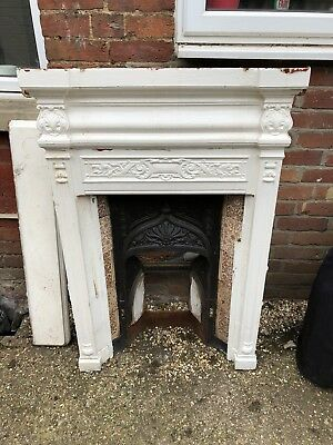 victorian cast iron fireplace (bedroom)