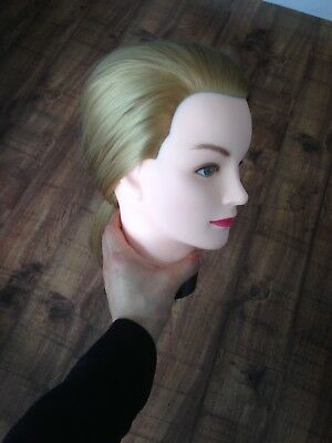Hairealm Training Head Hairdressing Mannequin Manikin Doll - Inc. Table clamp.